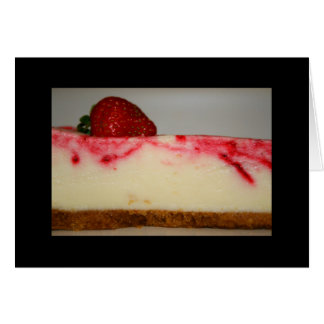 Strawberry Cheesecake Greeting Card and Note Card