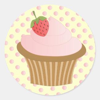 Strawberry Chocolate Classic Round Sticker