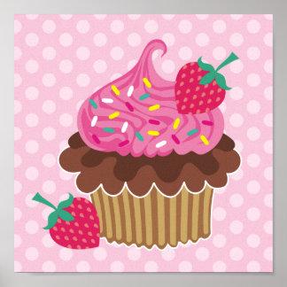 Strawberry & Chocolate Cupcake Canvas Print