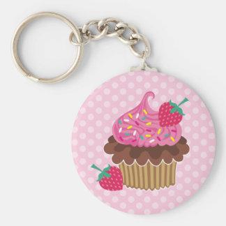 Strawberry & Chocolate Cupcake Key Chains