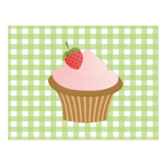Strawberry Chocolate Cupcake Postcard