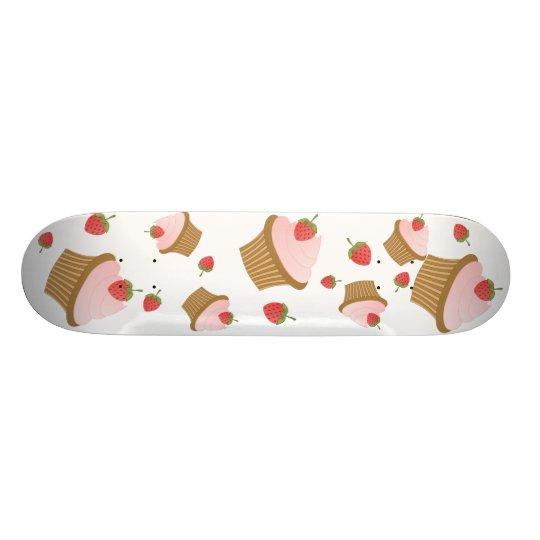 Strawberry Chocolate Cupcake Skateboard