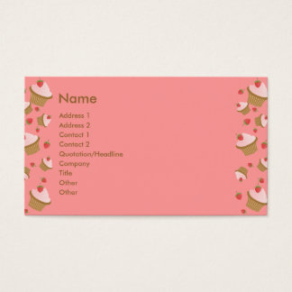 Strawberry Chocolate Cupcakes Business Card