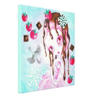 Strawberry Chocolate Ice Cream Faerie Canvas Print