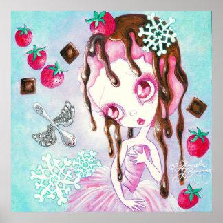 Strawberry Chocolate Ice Cream Faerie Poster