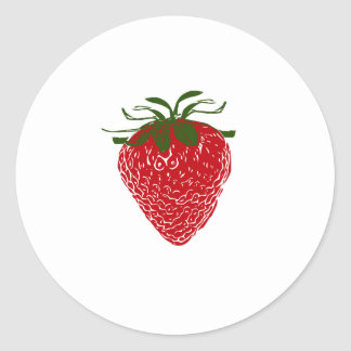 Strawberry: Classic Round Sticker