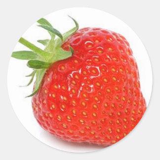 Strawberry Classic Round Sticker