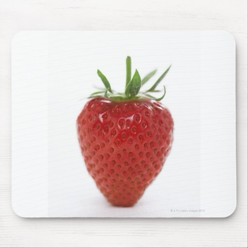 Strawberry, close-up mouse pad