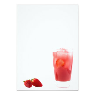 Strawberry cocktail card