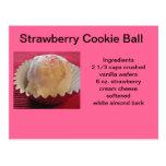 Strawberry Cookie Balls Postcard