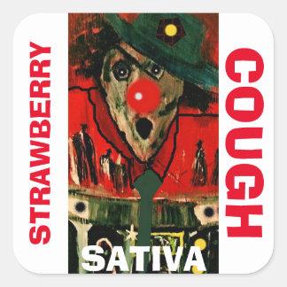 STRAWBERRY COUGH SATIVA SQUARE STICKER