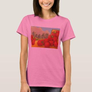 Strawberry Crate Art Retro T-shirt