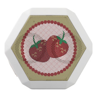 Strawberry Cream Pie Art White Bluetooth Speaker