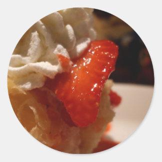 strawberry creme puff stickers