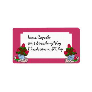 Strawberry Cupcake Address Label... Label