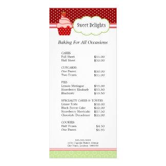Strawberry Cupcake Bakery Rack Cards