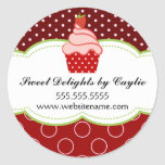 Strawberry Cupcake Bakery Stickers