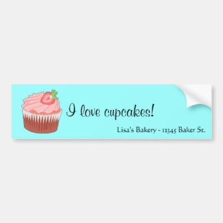 Strawberry Cupcake Bumper Sticker