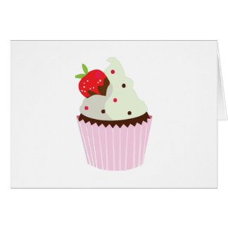 Strawberry Cupcake Greeting Cards