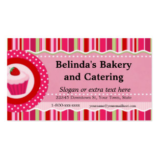 Strawberry Cupcake Catering Business Card