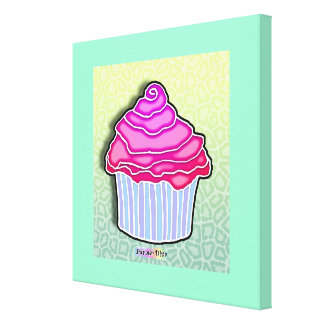 Strawberry Cupcake Gallery Wrapped Canvas