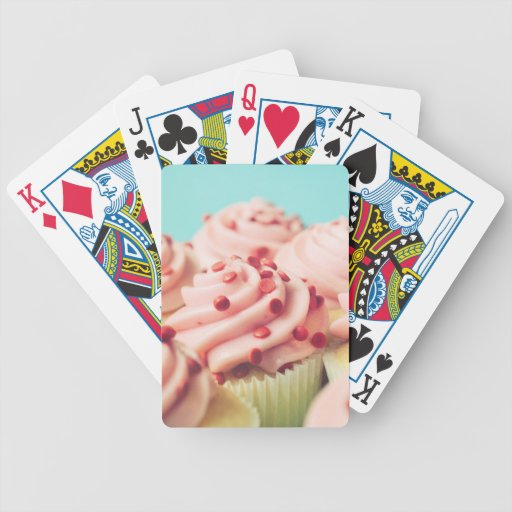 STRAWBERRY CUPCAKES PHOTOGRAPH DECK OF CARDS