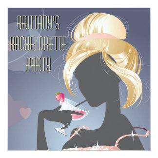 """Strawberry Daiquiri Bachelorette Party Invitation 5.25"""" Square Invitation Card"""