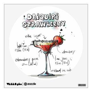 Strawberry Daiquiri Drink Recipe Design Room Stickers
