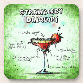 Strawberry Daiquiri Drink Recipe Drink Coaster