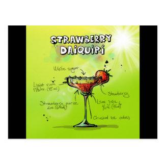 Strawberry Daiquiri Recipe - Cocktail Gift Postcard