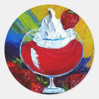 Strawberry Daiquiri Round Sticker