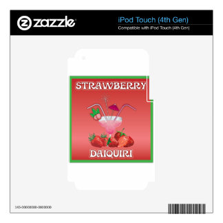 Strawberry Daiquiri Skins For iPod Touch 4G