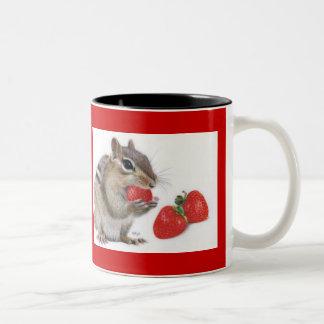Strawberry Delight Two-Tone Coffee Mug