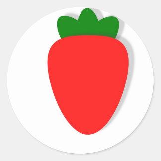 Strawberry design classic round sticker