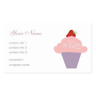 Strawberry Dessert Business Card Template