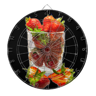 Strawberry Dessert Dartboard With Darts