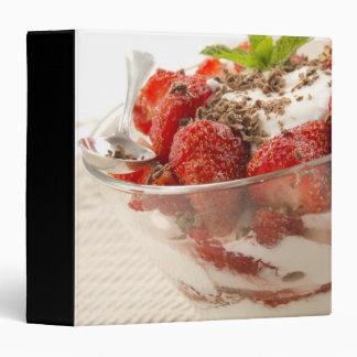 Strawberry Dessert With Fresh Yogurt 3 Ring Binder
