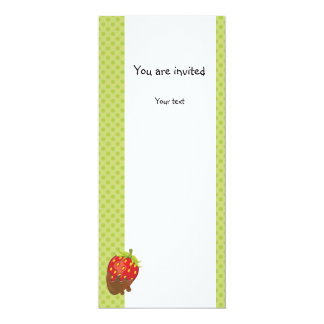 Strawberry dipped in chocolate card