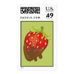 Strawberry dipped in chocolate stamp