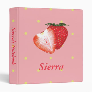 Strawberry Dots with Customizable Text Binders