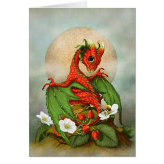 Strawberry Dragon.jpg Greeting Card