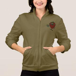 Strawberry Drinking Womens Jacket