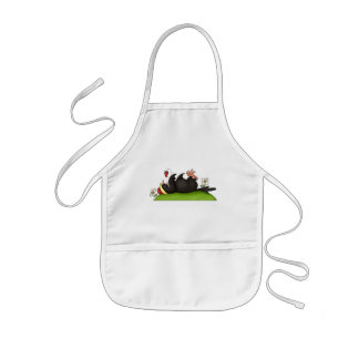 Strawberry Eating Crow Aprons