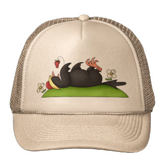 Strawberry Eating Crow Trucker Hat