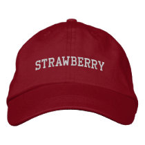 Strawberry Embroidered Hat (Red)
