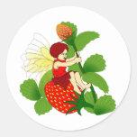 Strawberry Fairy Classic Round Sticker