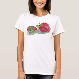 Strawberry Fairy Watercolor T-shirt