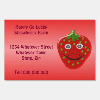 Strawberry Farm Custom Yard Sign