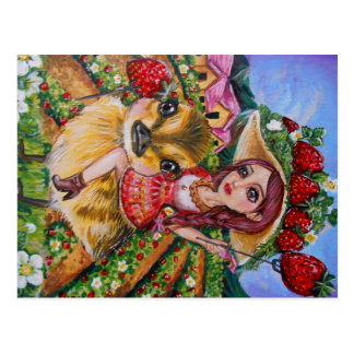 Strawberry Field Fantasy Art Post Cards