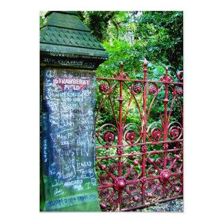 Strawberry Field Gates, Liverpool, UK. Card